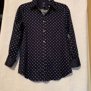 Chaps navy with white dots size small